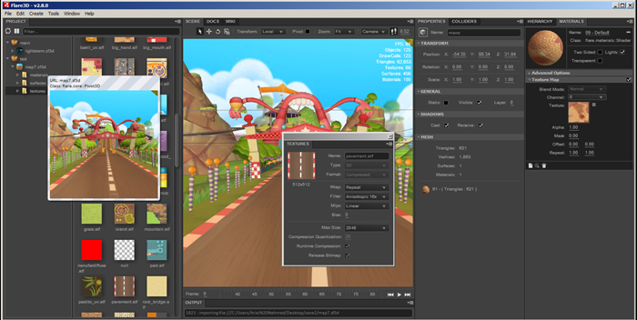 Flare3D 2.8 IDE